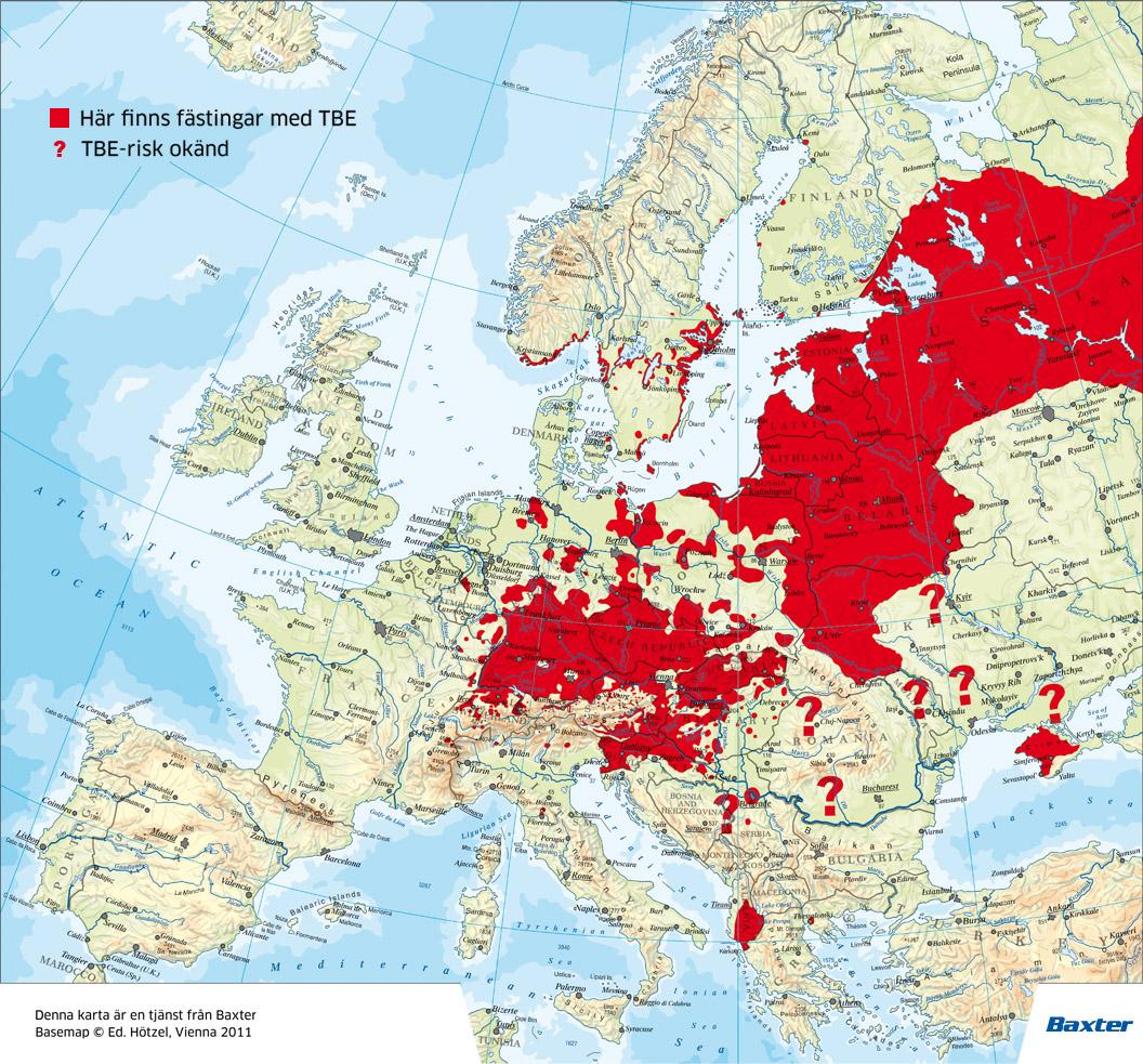tbe karta europa 瑞典的夏天,注意接种疫苗,防止Fästing叮咬引起的TBE   瑞典朋友圈 tbe karta europa